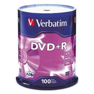 DVD+R 4.7GB 16x 100pk Spindle