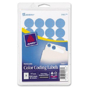 Custom Print Round Color-Coding Labels